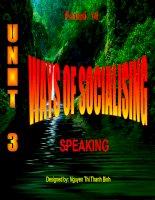 Unit 3- Speaking- English 12