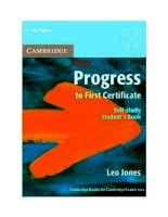 New progress to first certificate - self study student s book