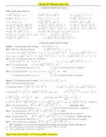 Chuyên đề phương trình chứa căn thức