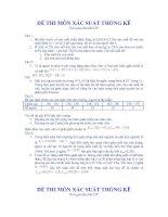 Đề thi Xác suất thống kê