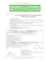 Giáo án hình học 7 chương 3