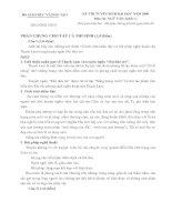 Đề&đáp án Văn Đại học nam9