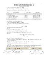 Cách in trộn văn bản trong Office 2003