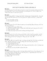 Bài tập về đường tròn - chương 2