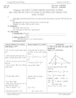 Phúc. T 02 - $ 1  Một số hệ thức về cạnh và đường cao trong tam giác vuông