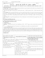 Bài 9 : QUAN HỆ QUỐC TẾ TRONG VÀ SAU THỜI KỲ CHIẾN TRANH LẠNH