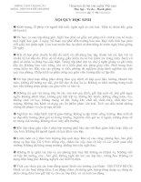 Nội quy học sinh 09-10