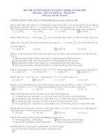 Đề và Gợi ý môn Lý (Cao đẳng 20090