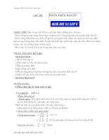 xin kế hoạch giảng dạy môn tự chọn toán 8