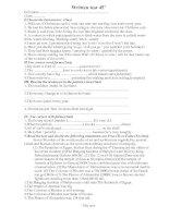 Written test 45'''' 8