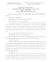 Kịch bản tiểu phẩm thi ATGT