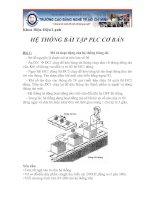 Hệ thống bài tập PLC cơ bản