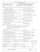 Hóa học 9 (Đề cương ôn tập HKI)