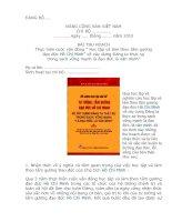 Bản thu hoạch: ''''Thực hiện cuộc vận động ''''học tập và làm theo tấm gương đạo đức Hồ  Chí Minh