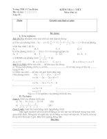 Đề kiểm tra toán 8 - Học kỳ II