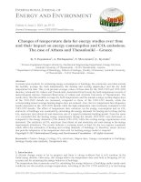 Changes of temperature data for energy studies over time and their impact on energy consumption and CO2 emissions. The case of Athens and Thessaloniki – Greece