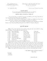 Quyết định thành lập ban chỉ đạo phòng chống cúm A(H1N1)Trường THCS Vinh An