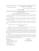 Quyết định Số: 40/2006/QĐ-BGDĐT Ban hành Quy chế đánh giá, xếp loại học sinh trung học cơ sở và học sinh trung học phổ thông