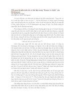MỐI QUAN HỆ GIỮA TÌNH YÊU VÀ THÙ HẬN TRONG