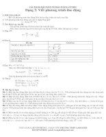 Dạng 2: Viết phương trình của vật dao động điều hoà