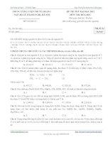 đề thi thử đại học 2012 môn thi hóa học