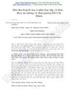 4 năm học tập tấm gương đạo đức Hồ Chí Minh - bài thu hoạch 2