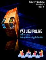 bài 17: vật liệu polime