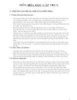 Phân phối Chương trình Môn Hóa THCS - NH 2009 - 2010