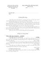 Đáp án và thang điểm thi tuyển viên chức