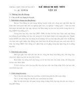 kế hoạch bộ môn vật lý 10 - 11 - 12