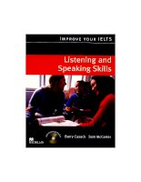 Improve IELTS listening and speaking skills