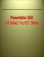 Presentation Skill - Kỹ năng thuyết trình