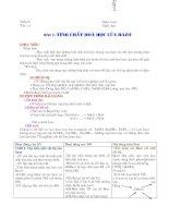 giáo án hóa 9 tuần 6 đến 10 (3 cột phương pháp mới có đề kiêm tra trắc nghiệm)