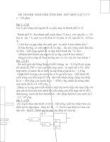 đề thi học sinh giỏi tỉnh môn vật lý lớp 9 ĐĂK LĂK