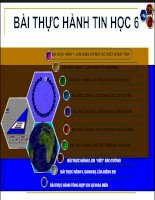 CÁC BÀI THỰC HANH TIN HOC 6
