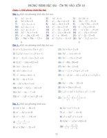 Phương trình bậc hai - ôn thi vào lớp 10