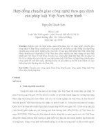 Hợp đồng chuyển giao công nghệ theo quy định  của pháp luật Việt Nam hiện hành