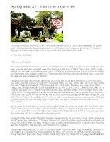 Đại Việt thế kỉ XV – Thời Lê Sơ (1428 - 1789)