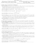ĐỀ THI THỬ ĐẠI HỌC LẦN 1 NĂM 2013 TRƯỜNG THPT NGUYỄN TRUNG THIÊN Môn: TOÁN; Khối D