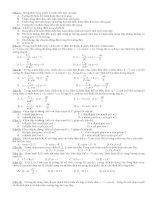 Bài tập trắc nghiêm ôn thi 3