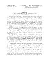 Chỉ thị số 15/CT-UBND ngày 13/8/2009 của UBND tỉnh Tiên Giang về nhiệm vụ giáo dục và đào tạo năm học 2009-2010