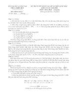 Đề thi & đáp án tuyển sinh vào lớp 10 chuyên hoá 06-07