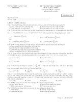 Đề thi đại học môn vật lý mã đề 897.