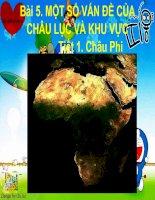 Bài 5:Một số vấn đề của châu lục và khu vực Tiết 1:Châu Phi