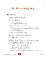 Bài giảng lập trình C - Ví dụ về sử dụng mảng
