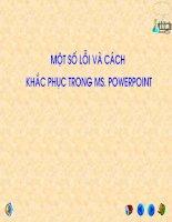 Loi va cach khac phuc trong PowerPoint