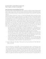 QUẢN LÝ RỪNG CỘNG ĐỒNG Ở VIỆT NAM:THỰC TRẠNG, VẤN ĐỀ VÀ GIẢI PHÁP