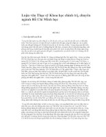 Luận văn thạc sỹ: Phương pháp dĩ bất biến ứng vạn biến Hồ CHí Minh