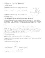 một số dạng toán cơ bản về dao động điều hoà