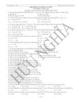 Đề trắc nghiệm vật lý 12 theo chu đề